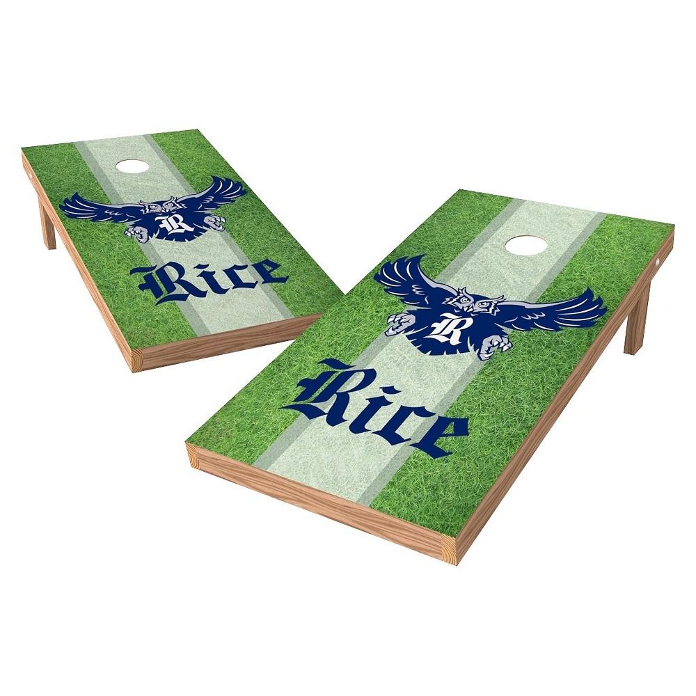 Rice Owls Wild Sports 2' x 4' Field Design Authentic Cornhole Set