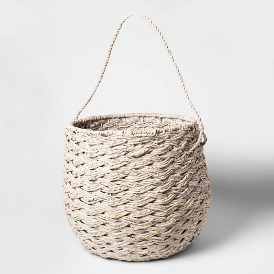 "15""x18"" Large Round Basket White Washed - Threshold™"