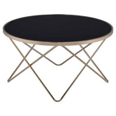 Coffee Table Black Champagne - Acme Furniture