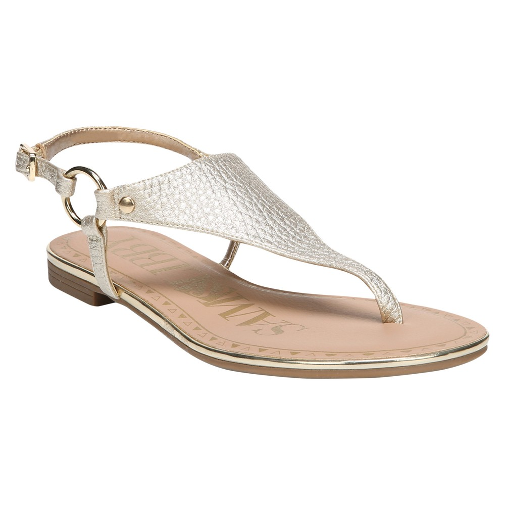 Women's Sam & Libby Harmony Thong Sandals - Gold 9.5