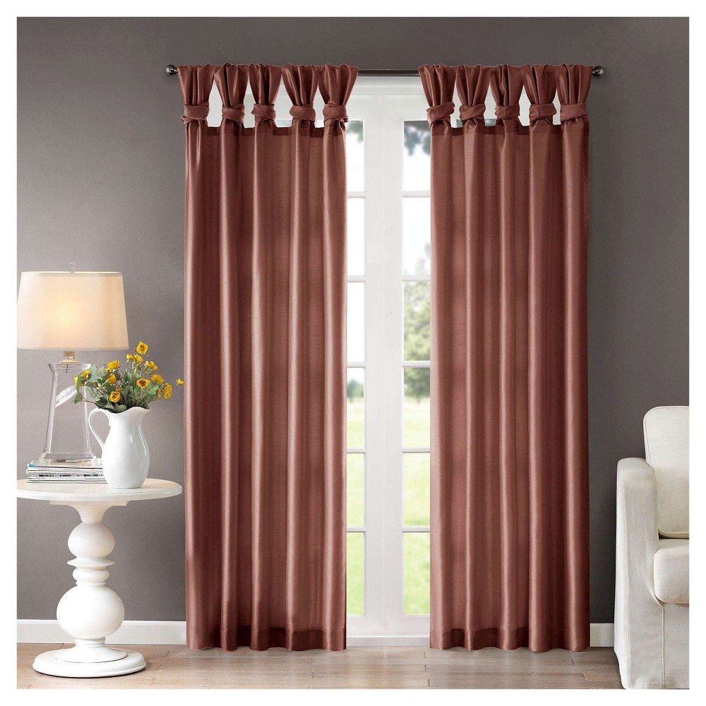 Lillian Twisted Tab Lined Curtain Panel Spice (50x84)