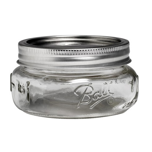 Ball 4ct 8oz Collection Elite Glass Mason Jar with Lid and Band - Wide Mouth - image 1 of 3