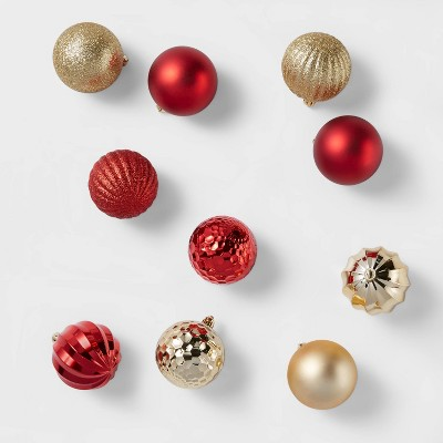 100ct Christmas Ornament Set Red & Gold - Wondershop™