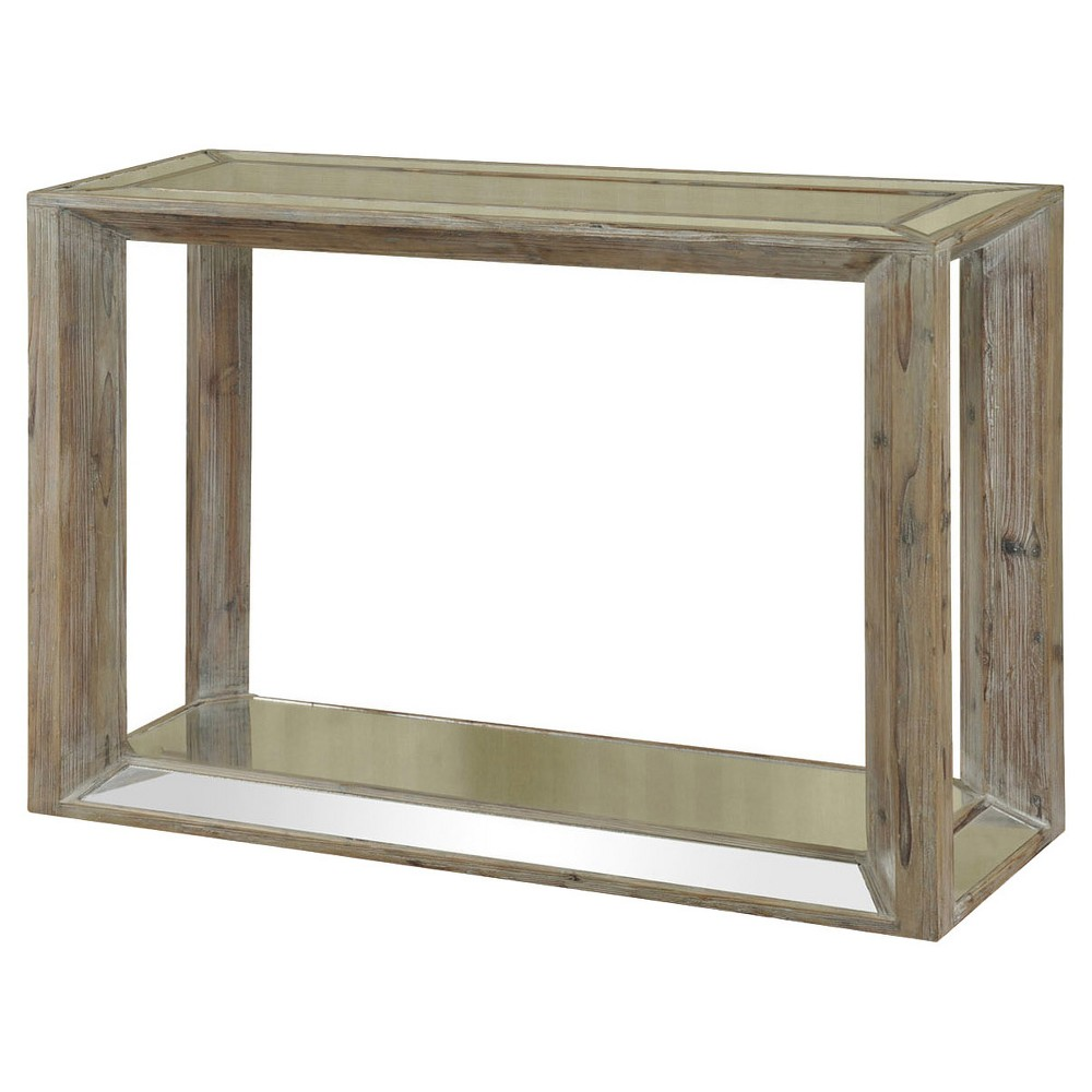 Console Table Glass with Weathered Wood - StyleCraft