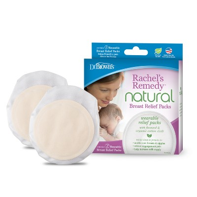 Dr. Brown's Rachel's Remedy Natural Hot and Cold Breast Relief Packs - 2pk