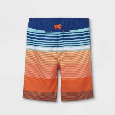 Boys' Striped Swim Trunks - art class™ Peach