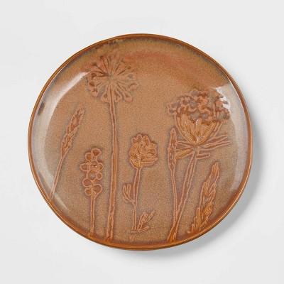 """6"""" Stoneware Floral Dessert Plate Orange - Threshold™"""