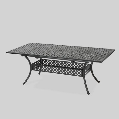 Abigail Rectangle Cast Aluminum Expandable Outdoor Patio Dining Table - Copper - Christopher Knight Home : Target