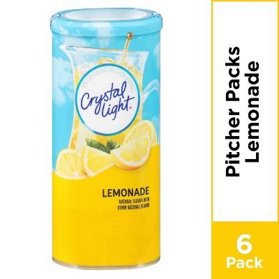 Crystal Light Natural Lemonade Drink Mix - 6pk/3.2oz