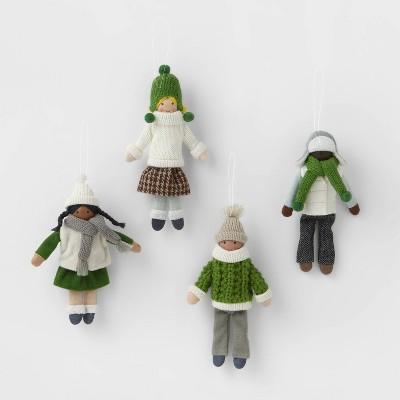 4pk Snowkids Christmas Tree Ornaments - Wondershop™