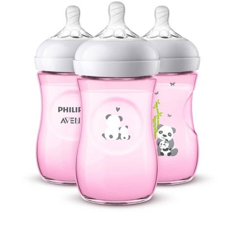 Philips Avent Natural Baby Bottle - Pink Panda - 9oz - 3pk - image 1 of 4