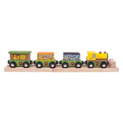 Bigjigs Rail Safari Wooden Railway Train