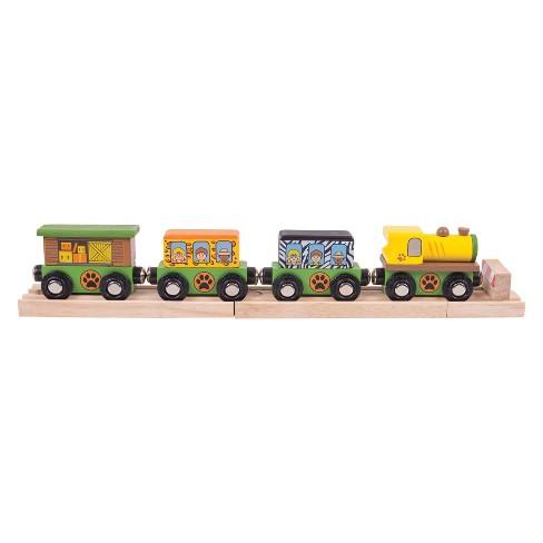 Bigjigs Rail Safari Wooden Railway Train - image 1 of 1