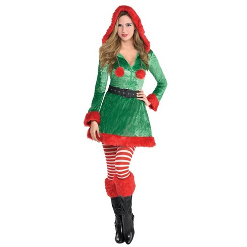 Sassy Elf Women's Costume Green - Amscan  - image 1 of 1