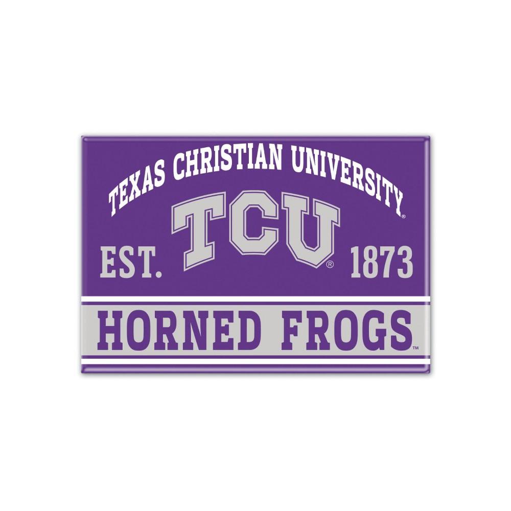 NCAA Tcu Horned Frogs Fridge Magnet