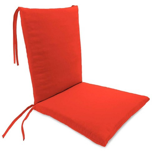 Weather Resistant Outdoor Rocker Chair Cushion With Ties Coral