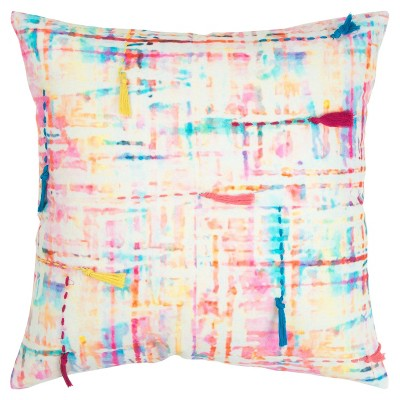 """20""""x20"""" Abstract Polyester Filled Pillow Pink - Rizzy Home : Target"""
