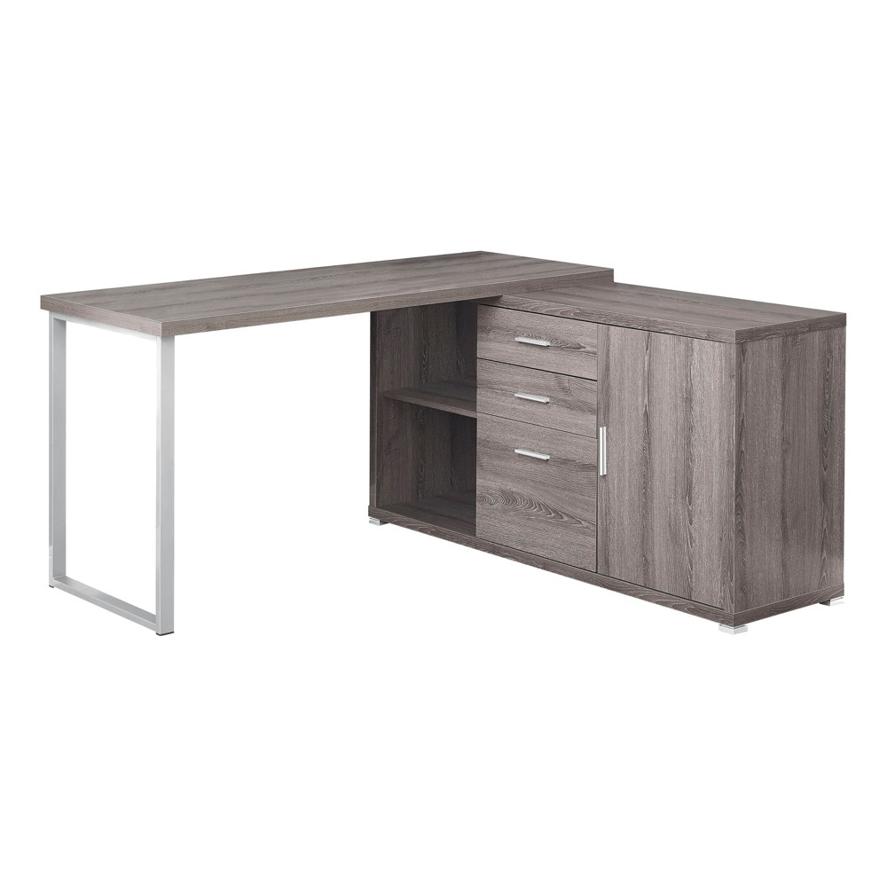 60 Computer Desk Left Or Right Facing Dark Taupe - EveryRoom