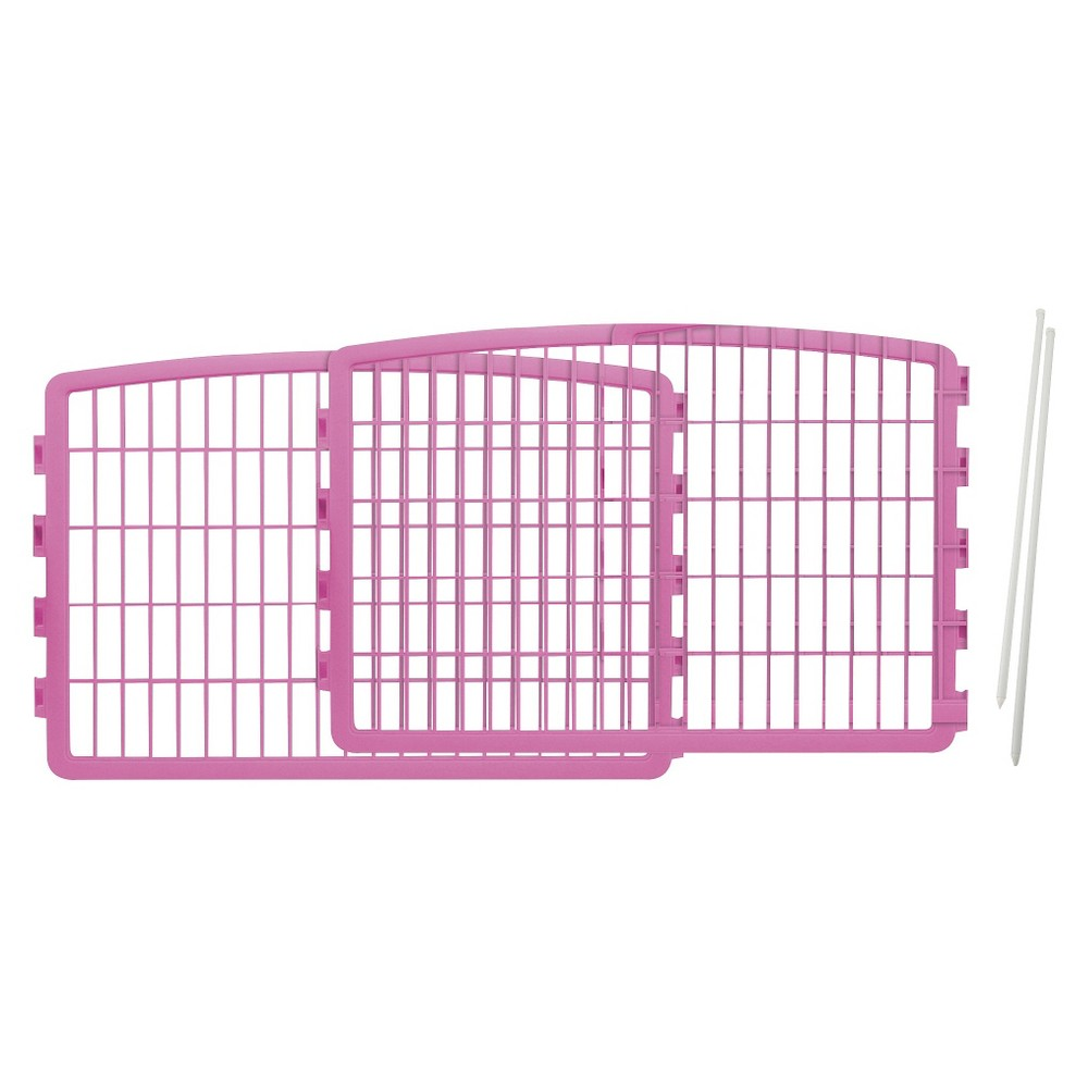Iris Expansion Kit for Indoor/Outdoor Plastic Dog Pen - 24in - Pink