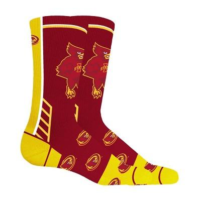 NCAA Iowa State Cyclones Tailgate Crew Socks L