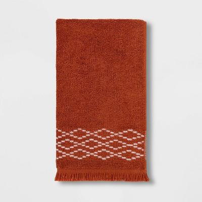 Diamond Weave Hand Towel Orange - Threshold™