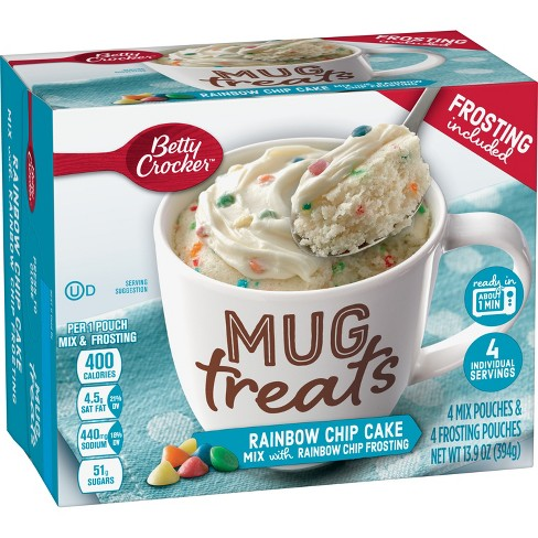 Betty Crocker Mug Treats Rainbow Chip Cake Mix - 4ct/13.9oz - image 1 of 3