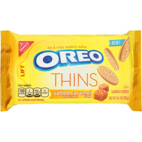 Oreo® Thins Salted Caramel Crème Sandwich Cookies - 10.1oz - image 1 of 1