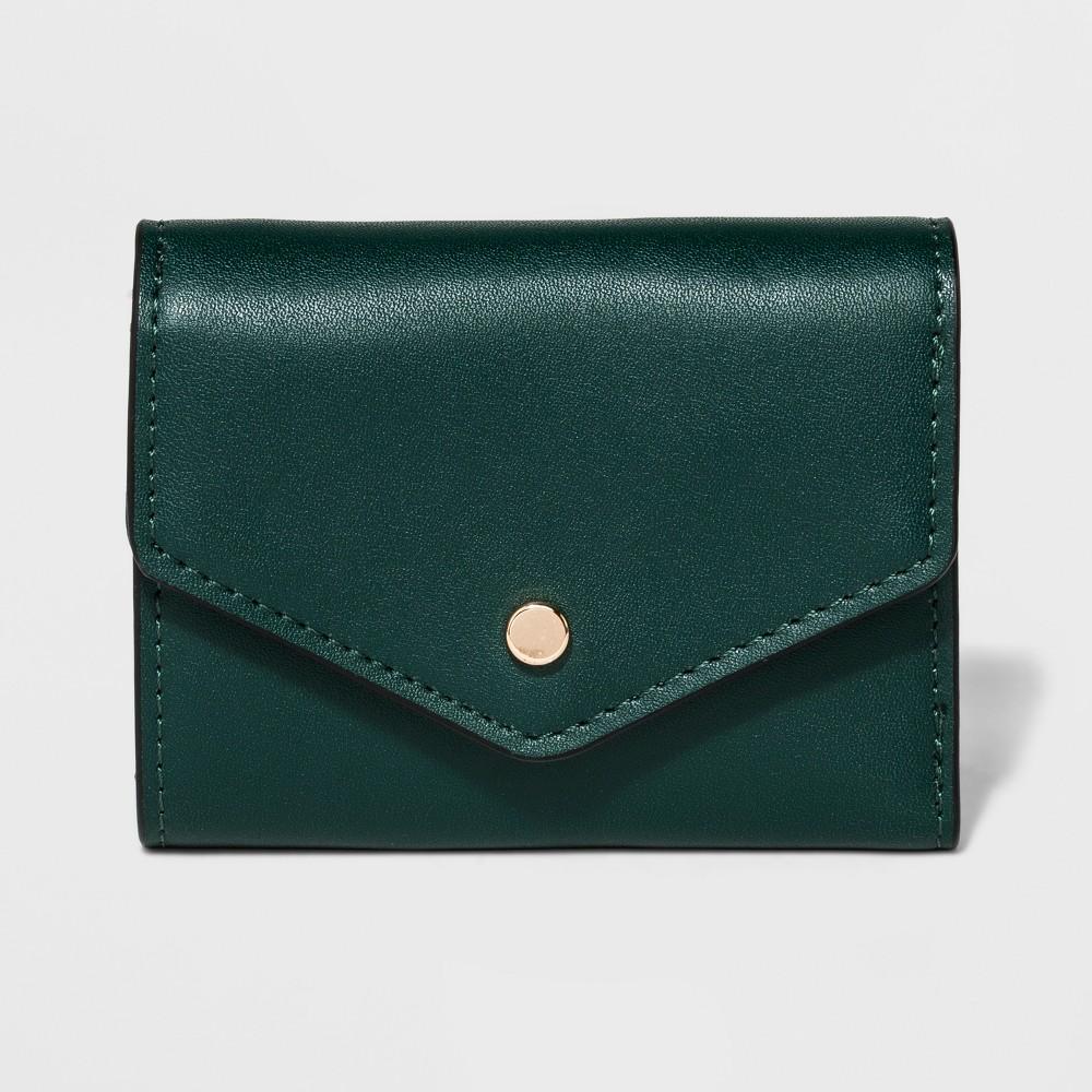 Women's Classic Mini Wallet - A New Day Green Marker