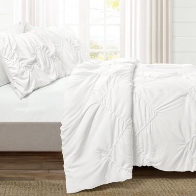 Ruched Chevron Comforter Set - Lush Décor
