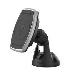 Scosche MagicMount Pro Window/Dash Magnetic Mount with 10W Qi Wireless Car Charger - Black/Silver