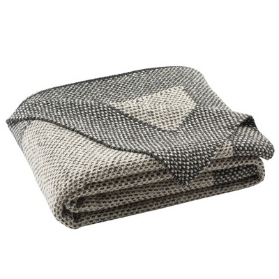 Dania Knit Throw Blanket Dark Gray - Safavieh