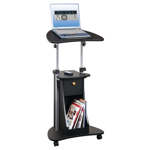 Rolling Adjustable Laptop Cart with Storage - Techni Mobili - image 1 of 4