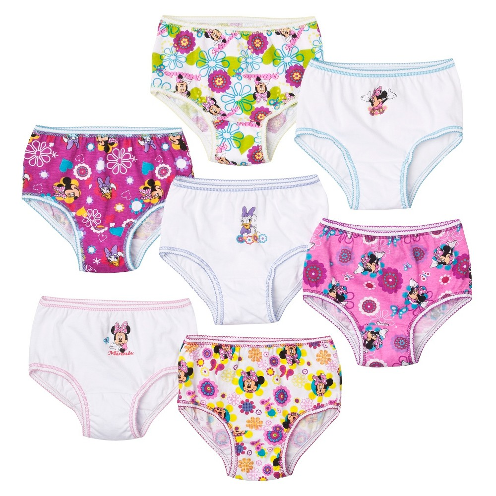 7 Pack Underwear, Little Girls' Minnie Mouse by Handcraft 4T, Multicolored