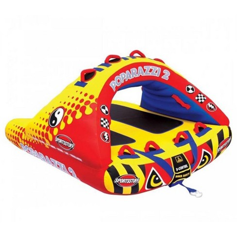 Airhead Poparazzi 2 Double Rider Wing-Shaped Lake Boat Towable Tube | 53-1752 - image 1 of 4
