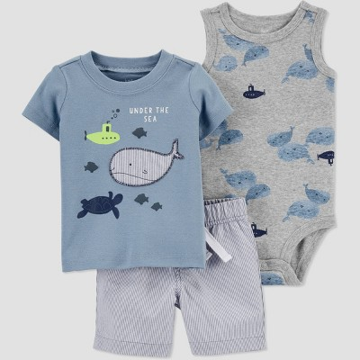 Baby Boys' Whale Top & Bottom Set - Just One You® made by carter's Blue 9M