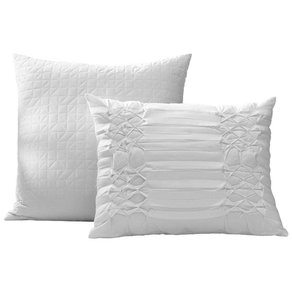 Image of White Triple Diamond Throw Pillow Set - City Scene
