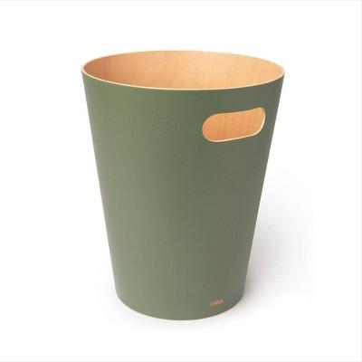 Umbra 2gal Woodrow Indoor Trash Can Green