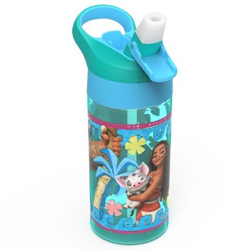 Moana 17.5oz Plastic Water Bottle Blue/Green - Zak Designs - image 1 of 3