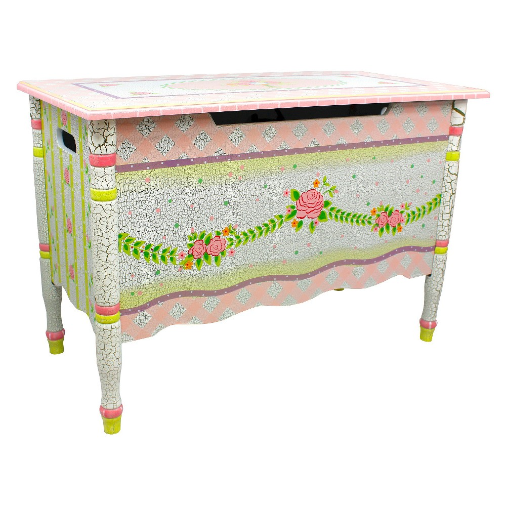 Fantasy Fields Crackled Rose Toy Chest - Teamson