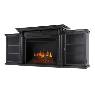 Real Flame Tracey Grand Electric Fireplace Entertainment Center Black