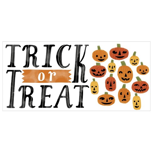 Halloween Trick or Treat Wall Decal - Hyde and Eek! Boutique™ - image 1 of 2