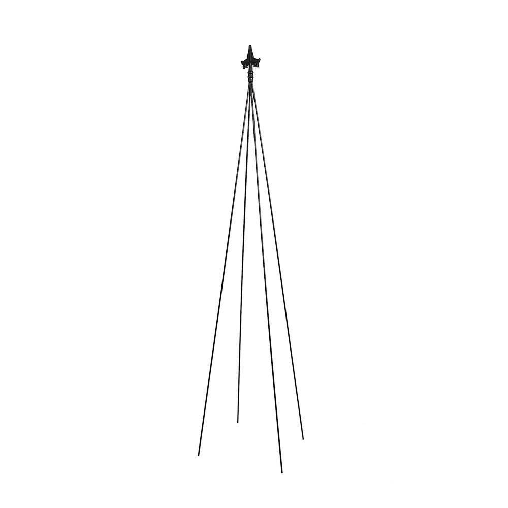 78 34 Tall Iron Fleur De Lis Garden Trellis Tool Black Powder Coat Finish Achla Designs