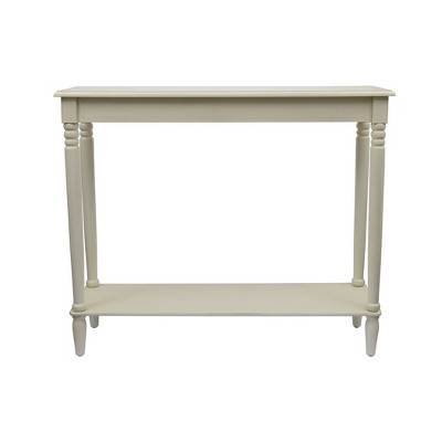 Simplify Large Console Table Antique White - Décor Therapy