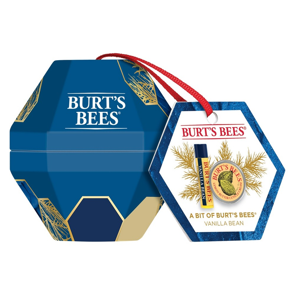 Burt's Bees A Bit of Holiday Gift Set Vanilla Bean and Lemon Butter Cuticle Cream Skin Care Collection