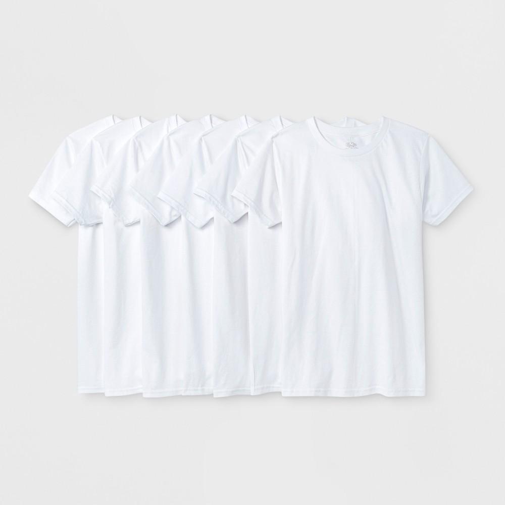 Fruit of the Loom Boys' 7pk T- Undershirt - White M