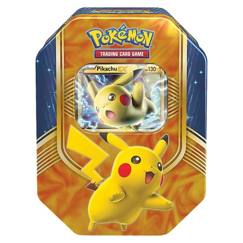 Pokemon Trading Card Game Battle Heart Tin Featuring Pikachu