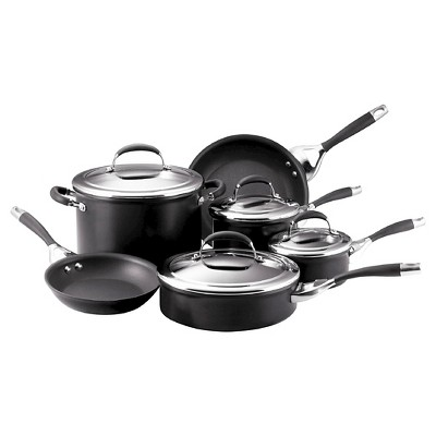 Circulon Elite 10 Piece Hard-Anodized Non-stick Cookware Set