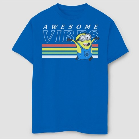 Boys' Despicable Me Minions Awesome Vibes T-Shirt - Royal Blue - image 1 of 2