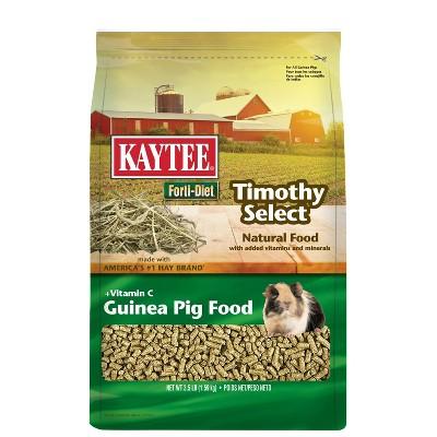 KAYTEE Forti-Diet Timothy Select Guinea Pig Food - 3.5lbs