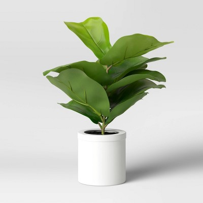 "15"" x 10"" Artificial Fiddle Leaf Plant in Pot - Threshold™"